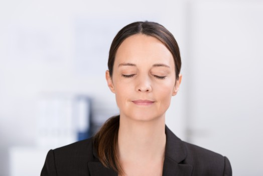 Young woman during Hypnotherapy session